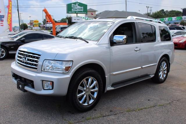 2008 INFINITI QX56 RWD 4DR silver driverfront passenger dual-stage airbag wauto-sensing offdri
