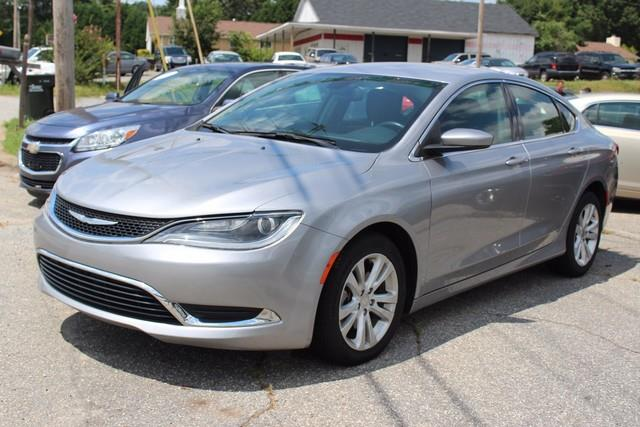 2015 CHRYSLER 200 LIMITED 4DR SEDAN silver side impact beamsdual stage driver and passenger seat
