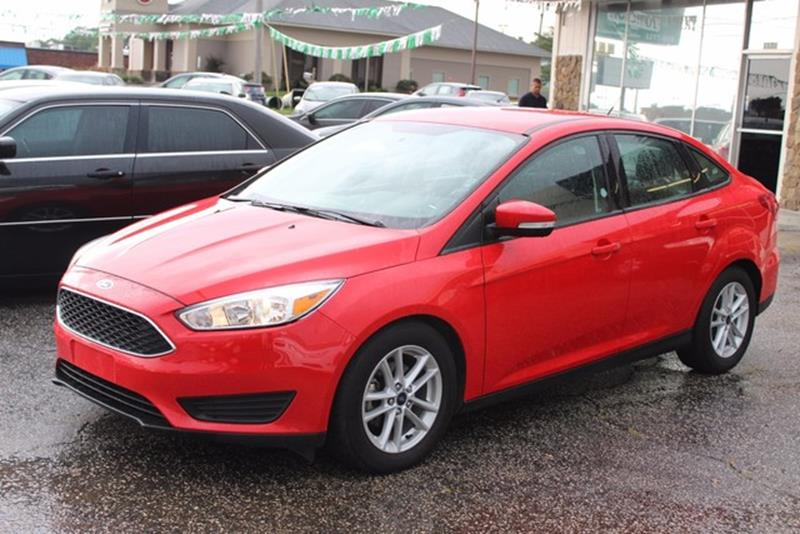 2016 FORD FOCUS SE 4DR SEDAN red side impact beamsdual stage driver and passenger seat-mounted s