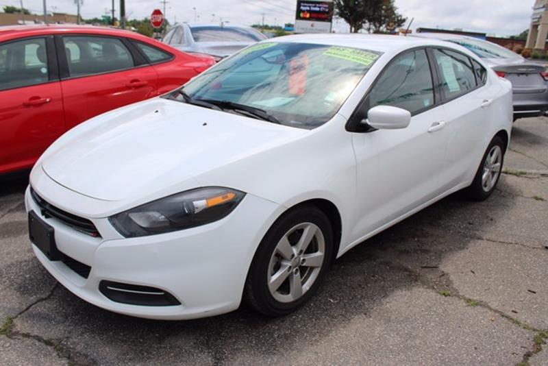 2016 DODGE DART SXT 4DR SEDAN white side impact beamstire specific low tire pressure warningdua