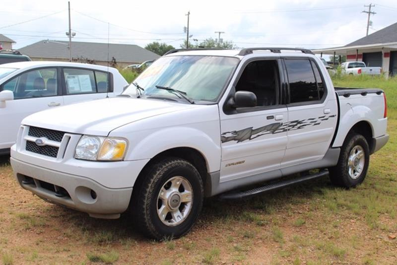 2001 FORD EXPLORER SPORT TRAC BASE 4DR 4WD CREW CAB SB white driver  front passenger airbagsfro