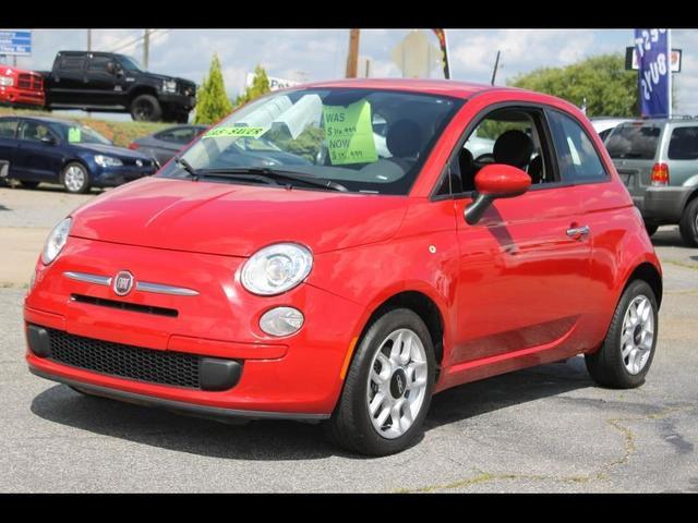 2014 FIAT 500 POP 2DR HATCHBACK red advanced multi-stage front seat airbagsdriver inflatable kne