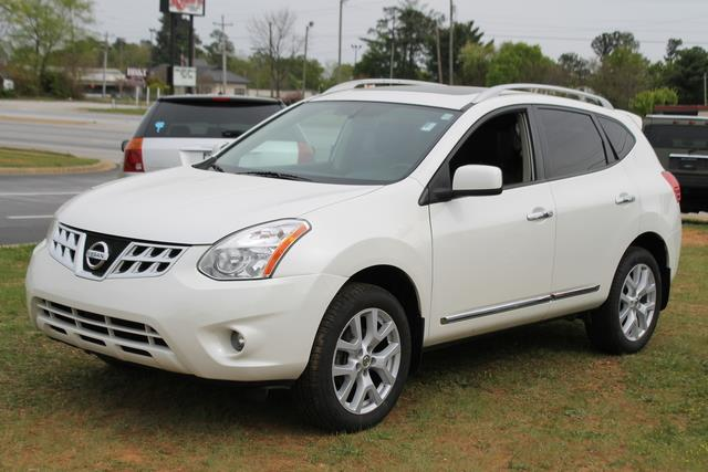 2011 NISSAN ROGUE SL AWD white front  rear curtain side-impact airbagsfront seat-mounted side-i