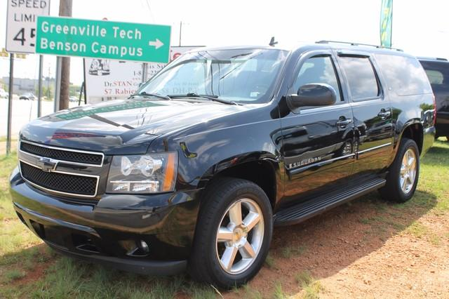 2008 CHEVROLET SUBURBAN 1500 LT 4X4 black driver  front passenger frontal airbagshead curtain s