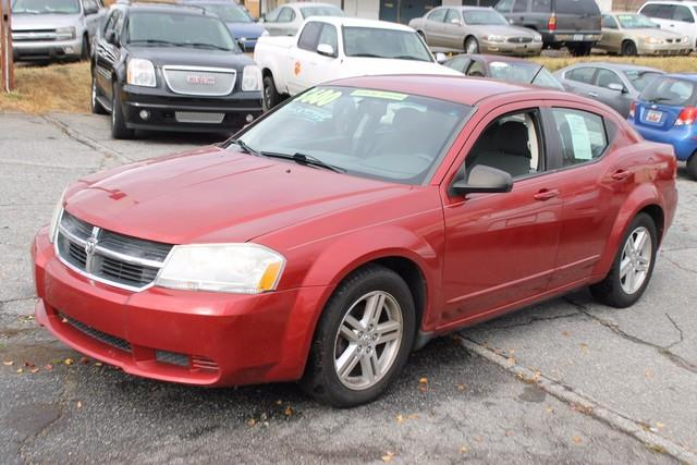 2008 DODGE AVENGER SXT 4DR SEDAN red child protection rear door locksdriver  front passenger fr