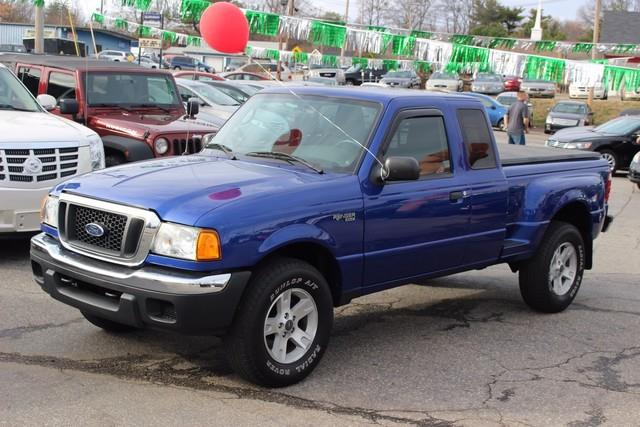 2004 FORD RANGER XLT 4WD blue driver  front passenger airbags wmanual passenger-side deactivati
