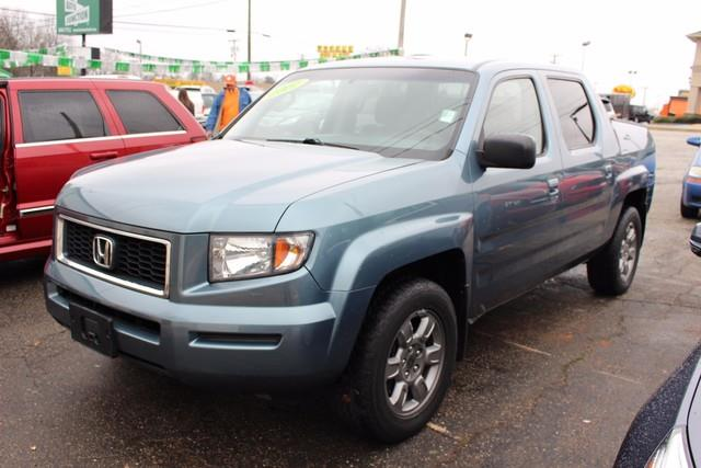 2007 HONDA RIDGELINE RTX AWD 4DR CREW CAB blue driver  front passenger airbags srsdriver  fr