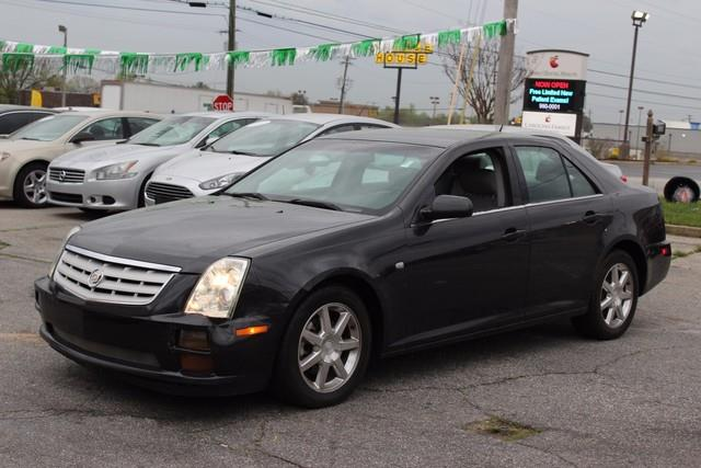2005 CADILLAC STS 4DR SDN V8 black air bags frontal dual stage and side thorax for driver and fr