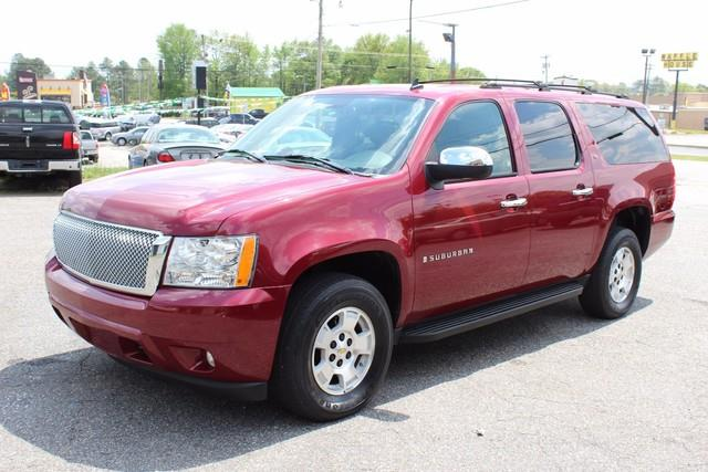 2007 CHEVROLET SUBURBAN 4WD 4DR 1500 LT maroon air bags dual-stage frontal driver and right-fro