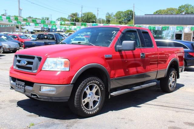 2004 FORD F-150 SUPERCAB FX4 4X4 red dual stage driver  front passenger airbagsseat integrated