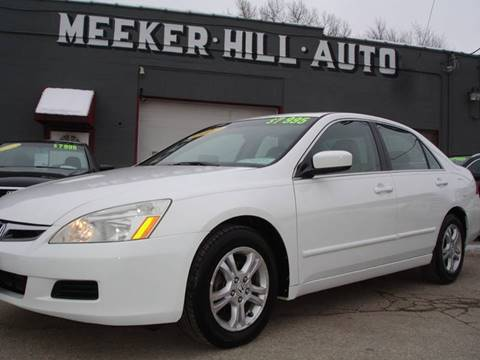 2007 Honda Accord EX-L for sale at Meeker Hill Auto Sales in Germantown WI
