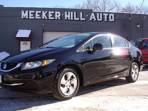 2013 Honda Civic LX for sale at Meeker Hill Auto Sales in Germantown WI