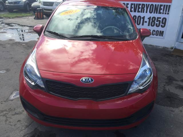 2013 KIA RIO LX 4DR SEDAN 6A burgundy  instant financing with approved credit red with grey c