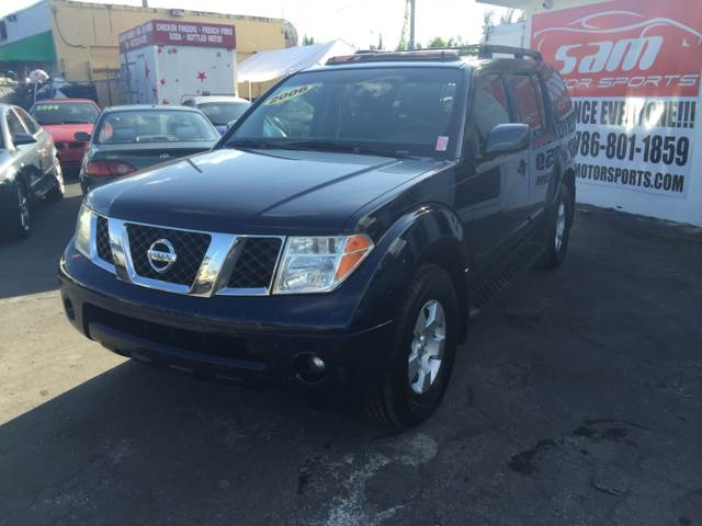 2006 NISSAN PATHFINDER SE 4DR SUV blue instant financing with approved credit local trade in