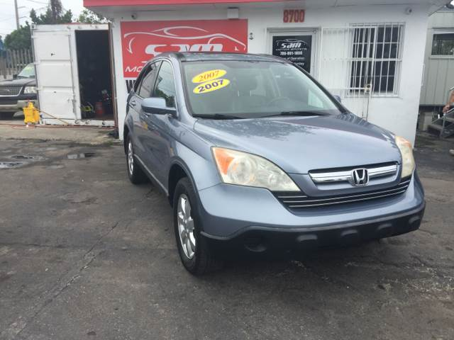 2007 HONDA CR-V EX-L 4DR SUV blue 2007 honda cr-v ex-l 4x4  blue with gray leather 17 alloy w