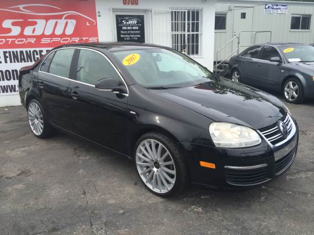 2007 VOLKSWAGEN JETTA WOLFSBURG EDITION 4DR SEDAN 25 black instant financing with approved cred