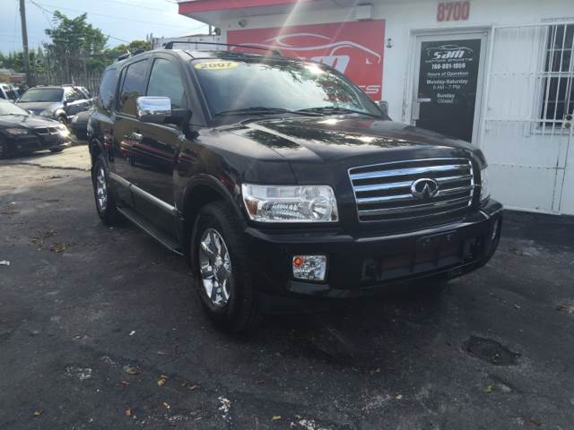 2007 INFINITI QX56 BASE 4DR SUV 4WD black instant financing with approved creditthis vehicle is
