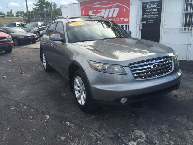 2005 INFINITI FX35 BASE RWD 4DR SUV gray instant financing with approved creditthis vehicle is p
