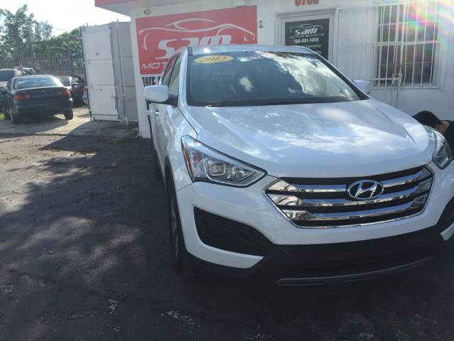 2013 HYUNDAI SANTA FE SPORT 24L 4DR SUV white this vehicle is priced 3199 below the market ave