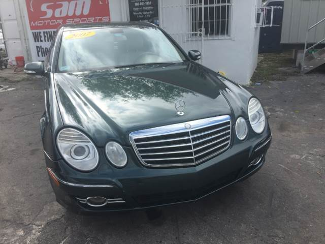 2007 MERCEDES-BENZ E-CLASS E350 4MATIC AWD 4DR SEDAN green instant financing with approved credit