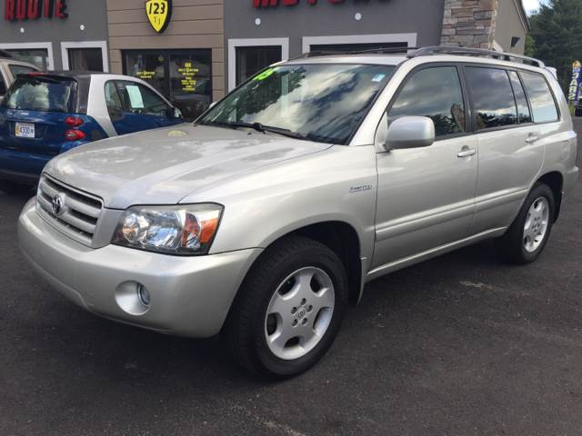 2005 Toyota Highlander for sale at Route 123 Motors in Norton MA