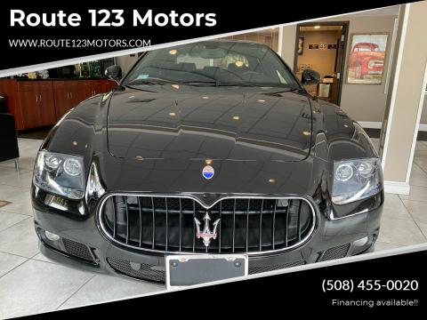 2012 Maserati Quattroporte for sale at Route 123 Motors in Norton MA
