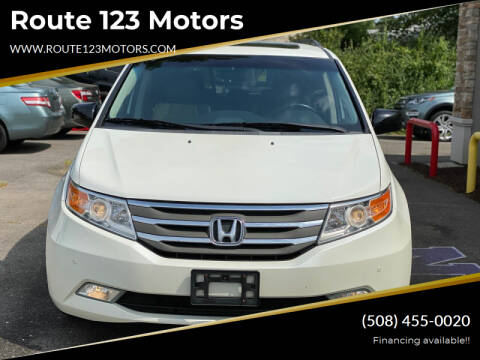 2012 Honda Odyssey for sale at Route 123 Motors in Norton MA