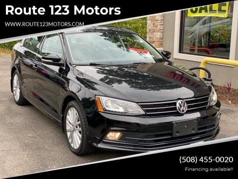 2016 Volkswagen Jetta for sale at Route 123 Motors in Norton MA