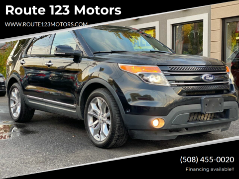 2013 Ford Explorer for sale at Route 123 Motors in Norton MA