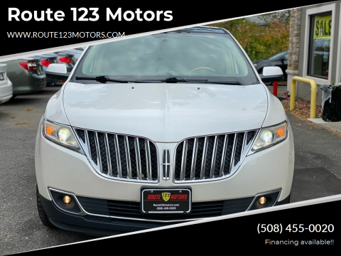 2011 Lincoln MKX for sale at Route 123 Motors in Norton MA