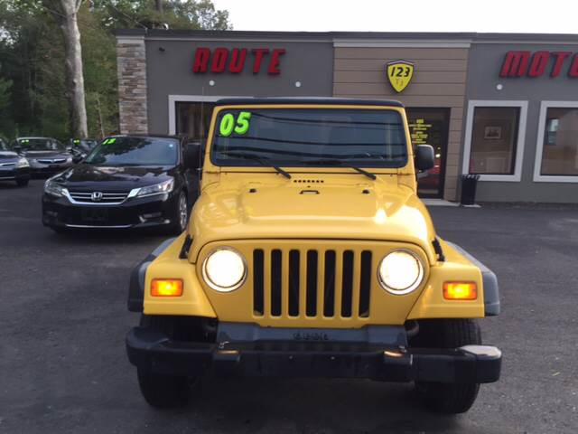 2005 Jeep Wrangler for sale at Route 123 Motors in Norton MA