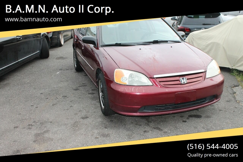 2002 Honda Civic for sale at B.A.M.N. Auto II Corp. in Freeport NY