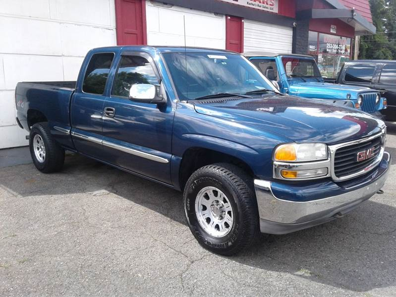 2000 Gmc Sierra 1500 3dr Sle 4wd Extended Cab Sb In Tacoma