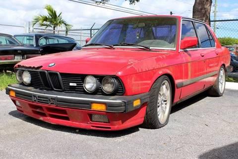 1987 BMW 5 Series for sale at Vintage Point Corp in Miami FL