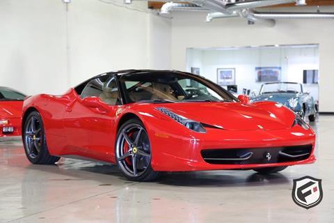 2012 Ferrari 458 Italia for sale in Chatsworth, CA