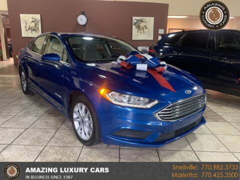 2017 Ford Fusion Hybrid for sale at Amazing Luxury Cars in Snellville GA