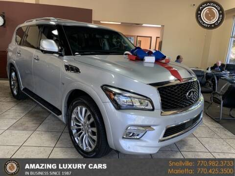 2015 Infiniti QX80 for sale at Amazing Luxury Cars in Snellville GA
