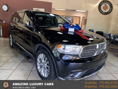 2014 Dodge Durango for sale at Amazing Luxury Cars in Snellville GA