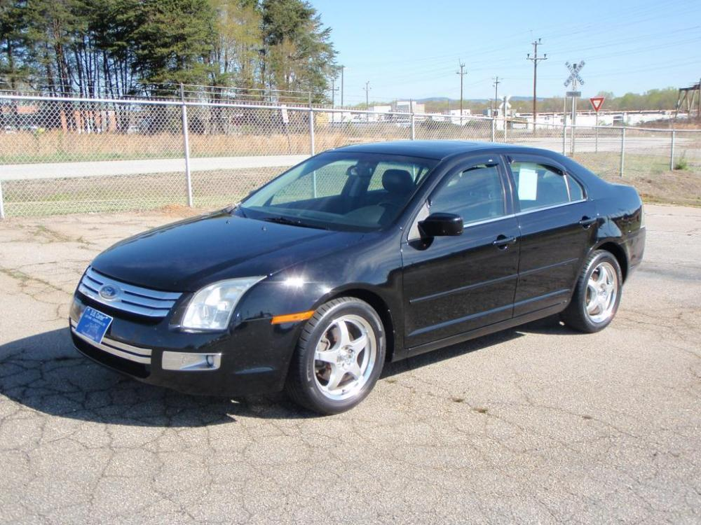 2007 FORD FUSION I-4 SEL 4DR SEDAN black 17 inch alloy wheels23 liter 6 cylinderpower sunroof