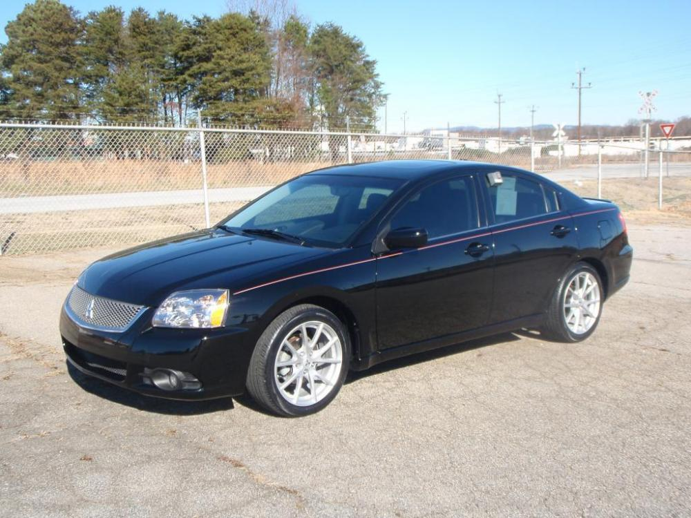 2012 MITSUBISHI GALANT 4DR CAR black 24 liter 4 cylindernew set of tires18 inch alloy wheels