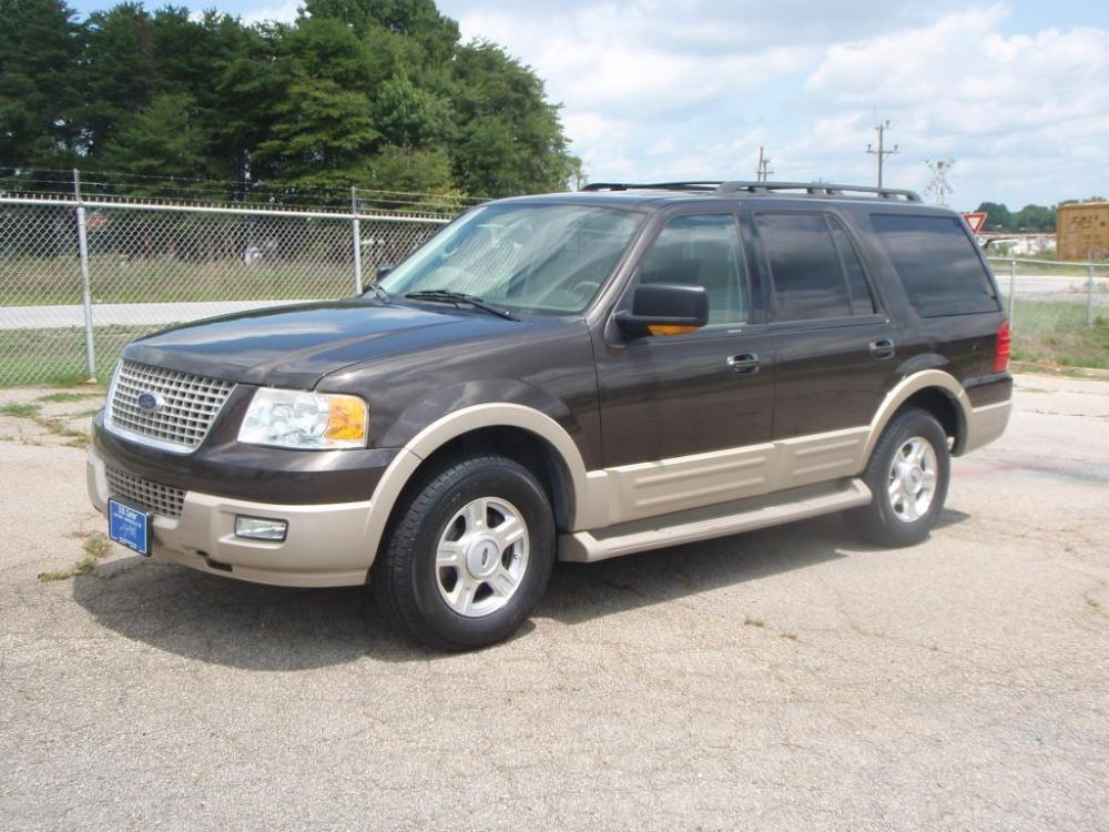 2005 FORD EXPEDITION SUV brown eddie bauer17 inch alloy wheelsnew set of tiresleather interior