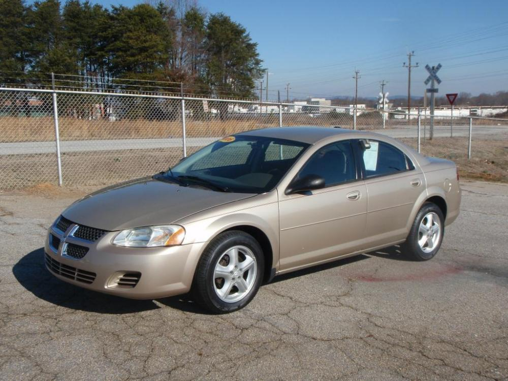 2006 DODGE STRATUS SXT 4DR SEDAN champagne 24 liter 4 cylindernew set of tiresalloy wheelsrem