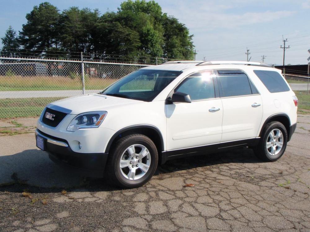 2012 GMC ACADIA SL 4DR SUV white 36 liter v618 inch alloy wheelsfog lightsbright roof rails8