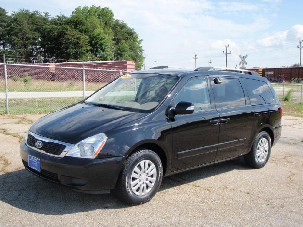 2011 KIA SEDONA LX 4DR MINI VAN LWB black 38 liter v616 inch wheelsgoodyear tiresroof rails7