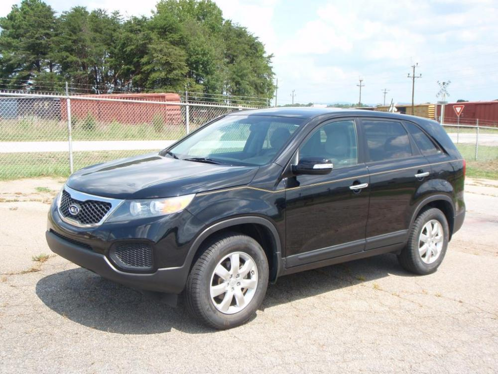 2011 KIA SORENTO LX 4DR SUV black 24 liter 4 cylinder17 inch alloy wheelsnew set of tires6 sp