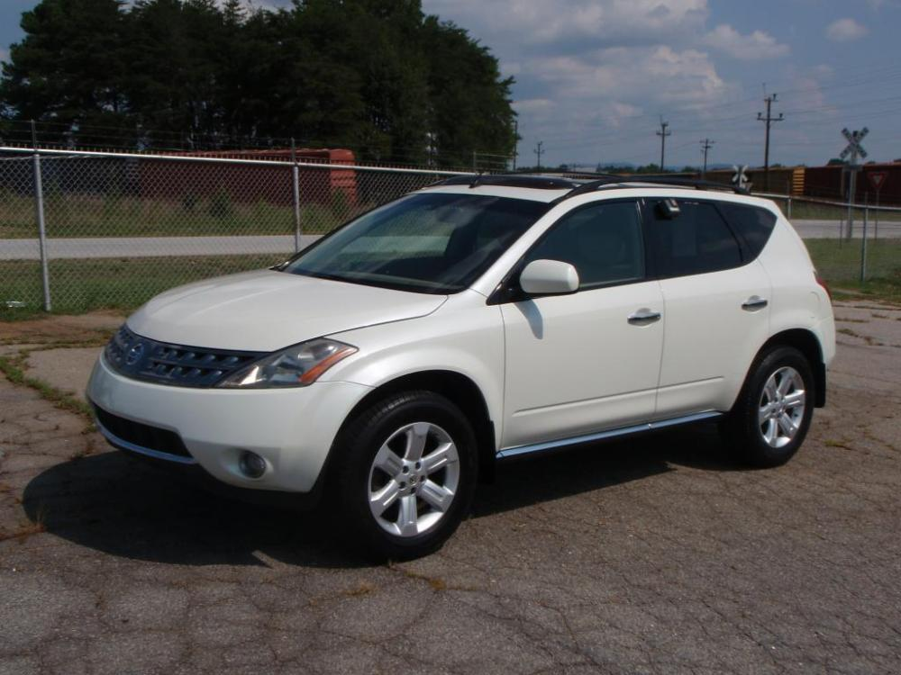 2007 NISSAN MURANO SUV white 35 liter 6 cylinder18 inch alloy wheelsrear view backup camerafo