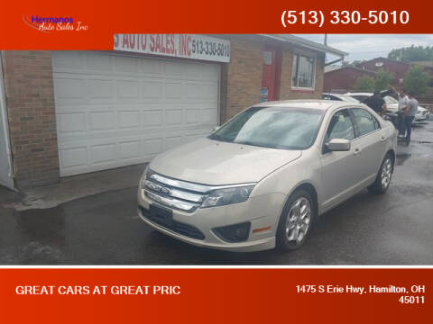 2010 Ford Fusion for sale at HERMANOS AUTO SALES INC in Hamilton OH