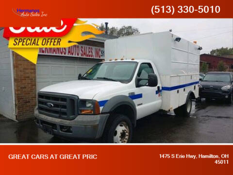 2005 Ford F-550 Super Duty for sale at HERMANOS AUTO SALES INC in Hamilton OH
