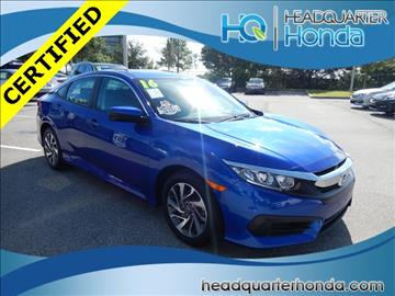 2016 Honda Civic for sale in Clermont, FL