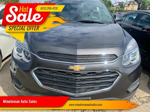 2016 Chevrolet Equinox for sale at Minuteman Auto Sales in Saint Paul MN